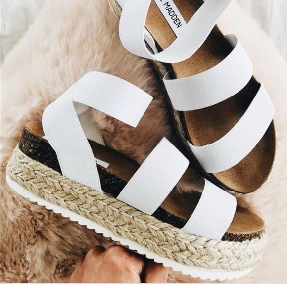 347ffe6e406 Steve Madden kimmie sandals in white